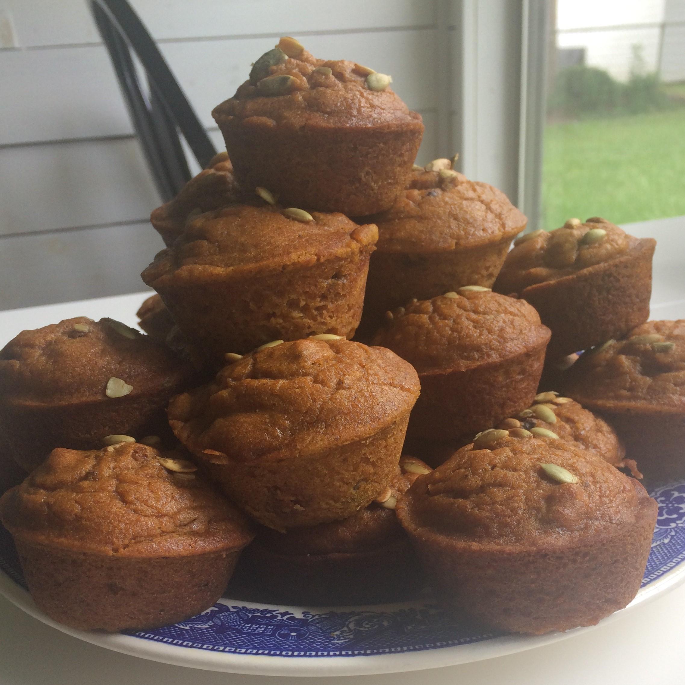 Vegan Pumpkin Muffins on plate